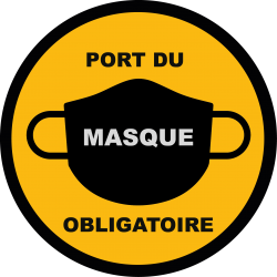 STICKERS PORT DU MASQUE COVID