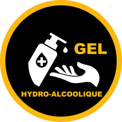 STICKERS GEL HYDRO ALCOOLIQUE COVID