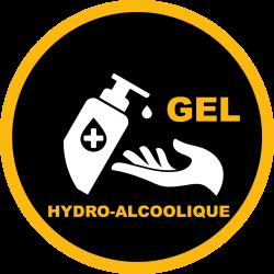ADHESIF SOL/VITRINE GEL HYDRO ALCOOLIQUE - 65cm (Personnalisable)